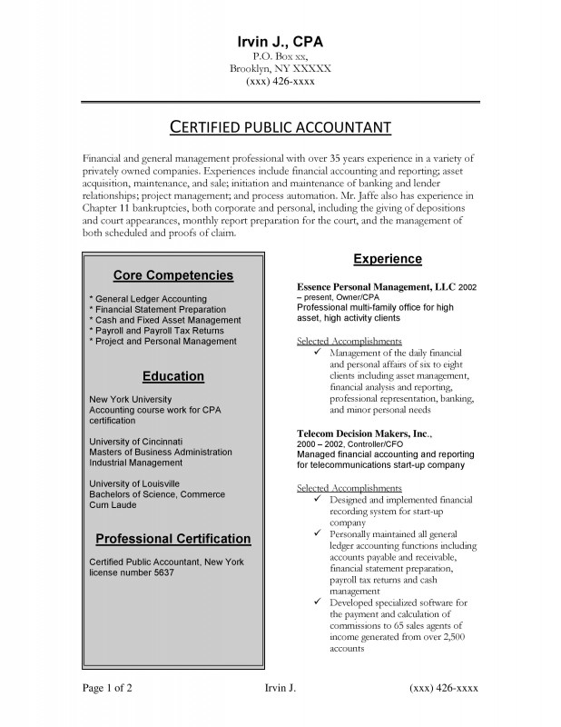 Accounting Resume and Cover Letter Center